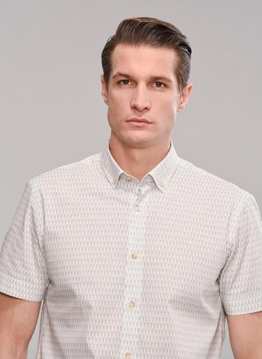 People By Fabrika Kısa Kollu Gömlek Beyaz